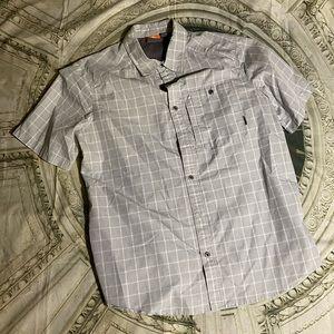 Merrell short sleeve button up travel shirt